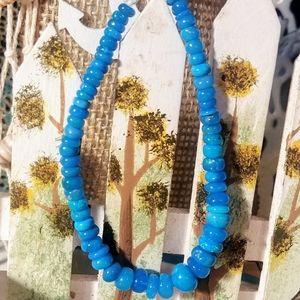 26 CT Blue Fire Opal Bead Bracelet